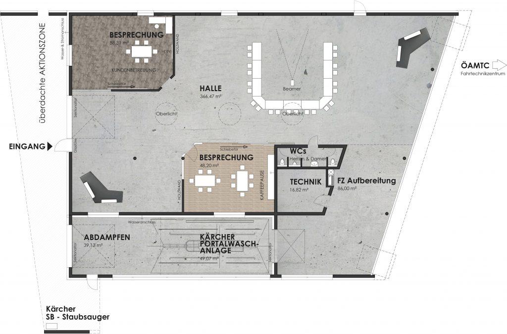 autohaus event location floor plan